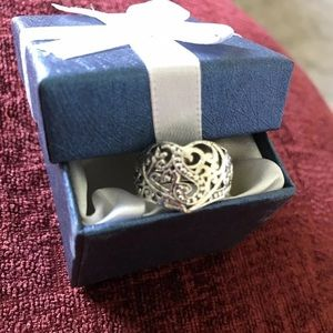 Bali Legacy Collection Heart Sterling 925